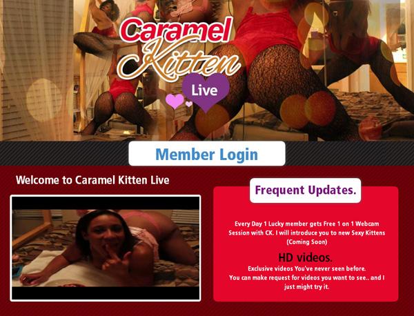 Caramelkittenlive.com Password Username