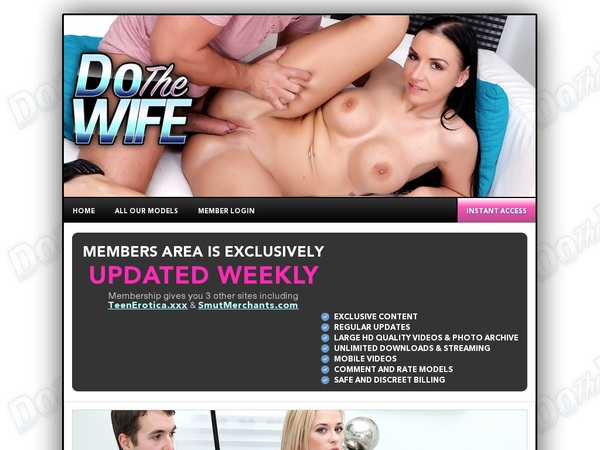 Fre Dothewife.com Login And Password