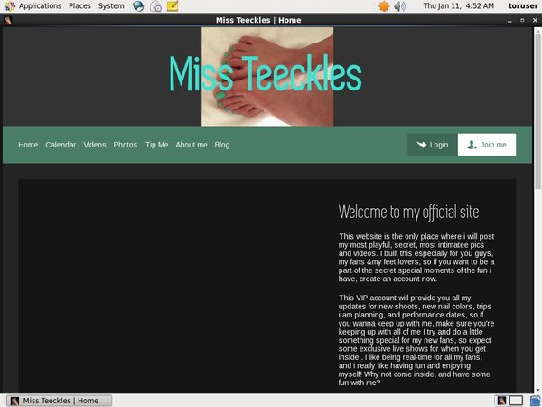 Free Account Miss Teeckles Offer
