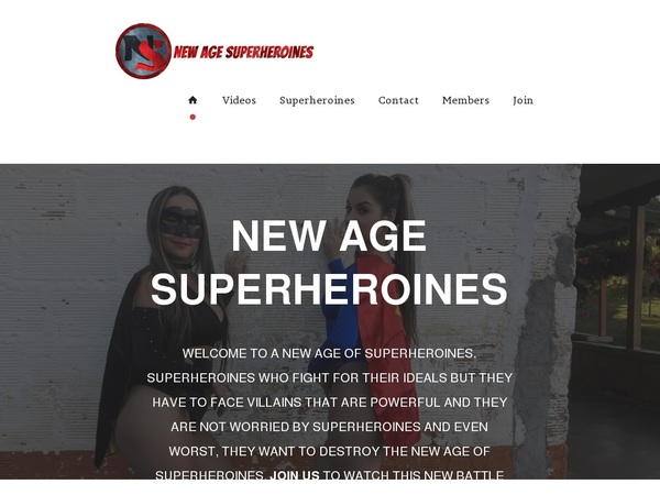 Newagesuperheroines.com Preview