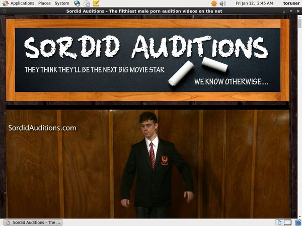 Sordidauditions.com Network Password